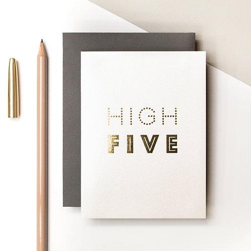 High Five Mini Metallic Card | Precious Metals