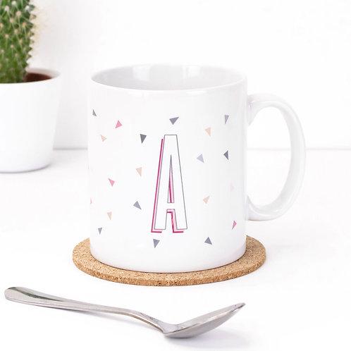 Alphabet Geo Triangles Mug