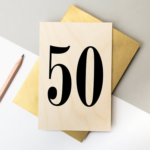 Pick a Number/Letter | Wooden Keepsake Card