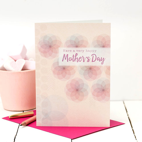 Modern Floral Happy Mother's Day Card