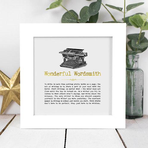 Wonderful Wordsmith | Mini Foil Print in Box Frame x 3