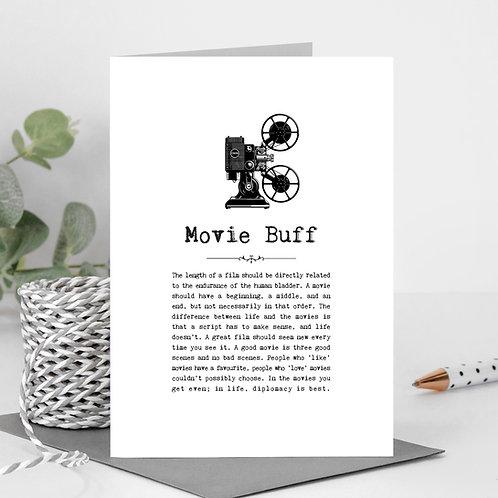 Movies Vintage Words Greeting Card x 6