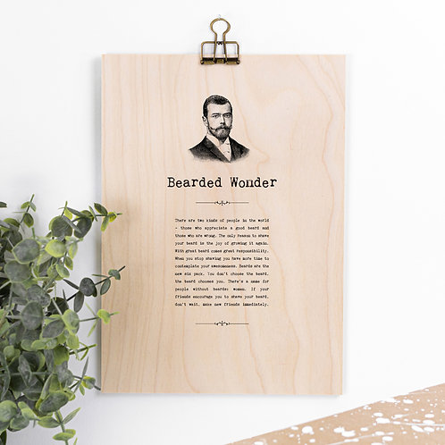 Beard Quotes Hanging Wooden Sign for Men