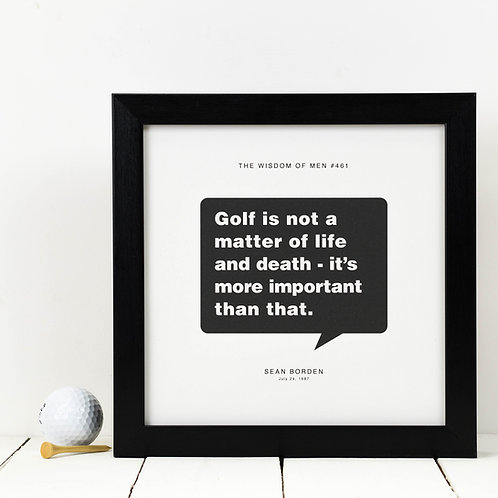 Personalised Gift for Him | Golf Print