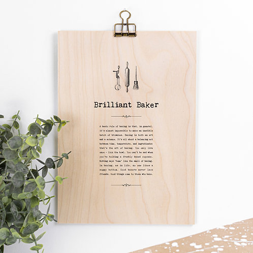 Baking Hanging Wooden Sign for Bakers