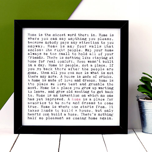 Home Wise Words Print x 3