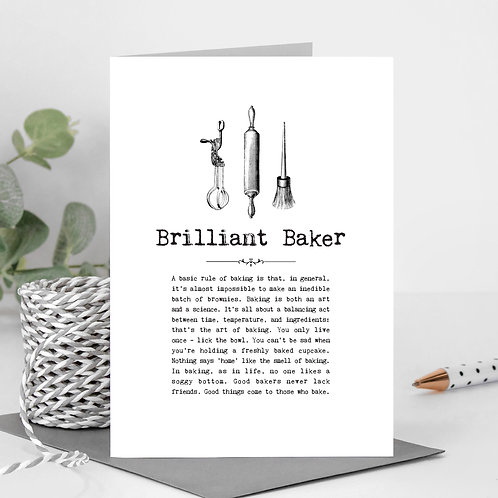 Bakers Greeting Card with Quotes