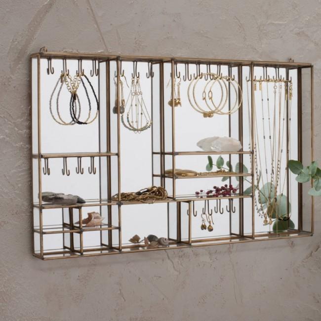 Brass Wall Jewellery Box