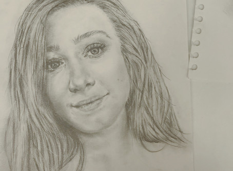 CM Does Something Different | Self Portrait Drawings