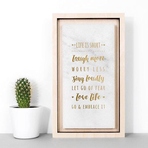 Life List Gold Marble Print x 3