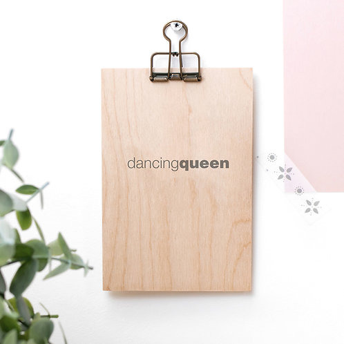 Dancing Queen Wooden Plaque with Hanger x 3