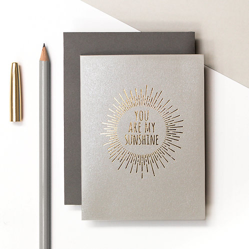 Sunshine Mini Metallic Card | Precious Metals