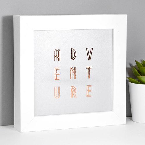 Adventure Silver Mini Framed Print for Exploreres