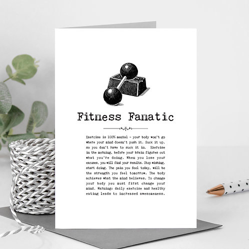 Fitness Fan Greeting Card with Quotes