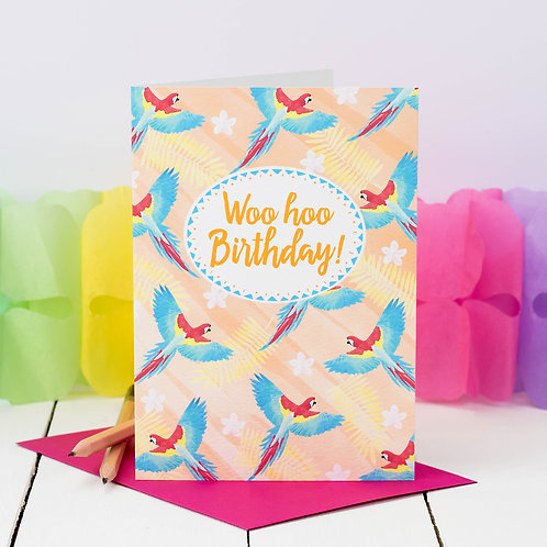 10 Funky Birthday Party Invites | Tropical Parrots