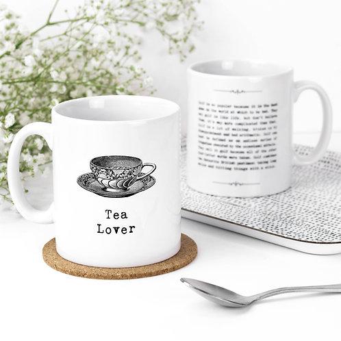 Tea Lover Vintage Words Quotes Mug x 3
