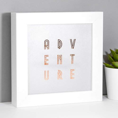 Adventure Rose Gold/Silver Framed Print x 3