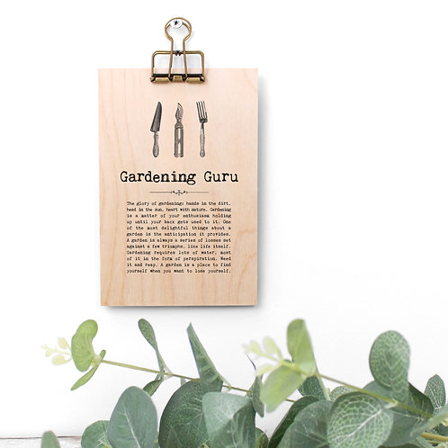 Gardening Quotes Mini Wooden Sign with Hanger