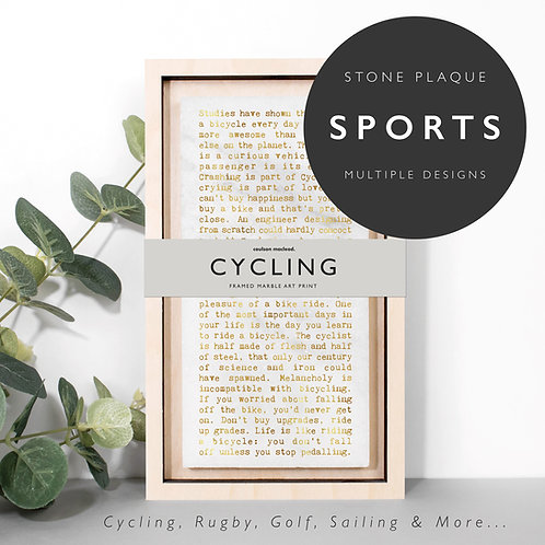Wise Words SPORTS Marble Stone Plaques x 3