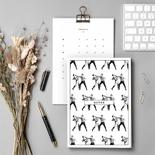 Boxing Gift Set with Calendar and Notebook
