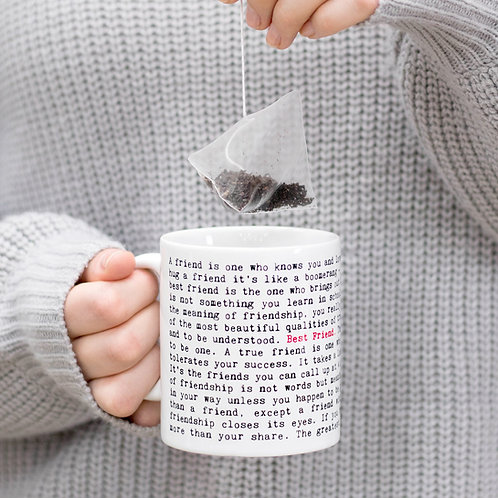 Best Friend Quotes Mug Gift