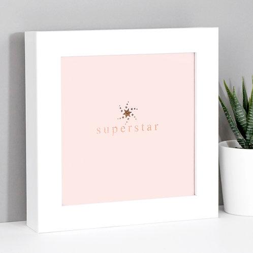 Superstar Framed Mini Metallic Print