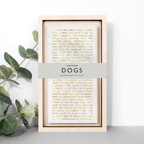 Dog Lovers Metallic Marble Stone Plaque