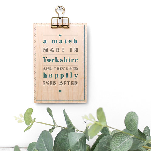 Perfect Match Blue Wooden Plaque with Hanger x 3