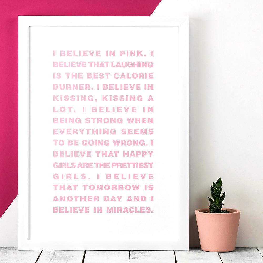 A3 Audrey Hepburn Quote Print