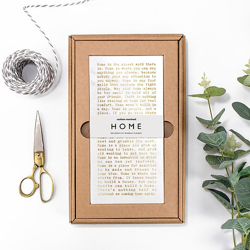 Home Metallic Quotes Stone Plaque