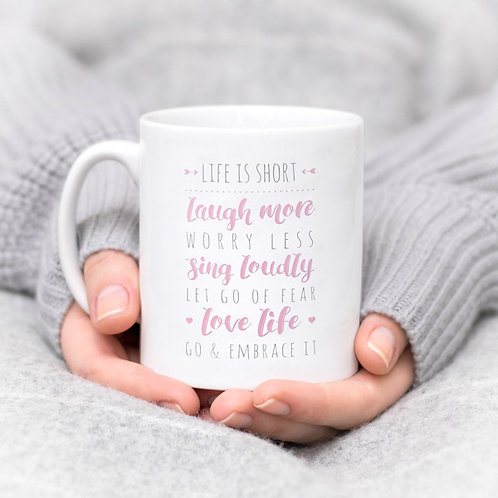 Life List Inspirational Quote Mug