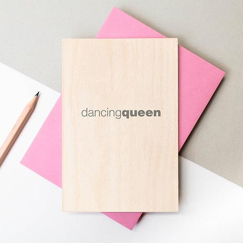 Dancing Queen Mini Wooden Plaque Card x 6