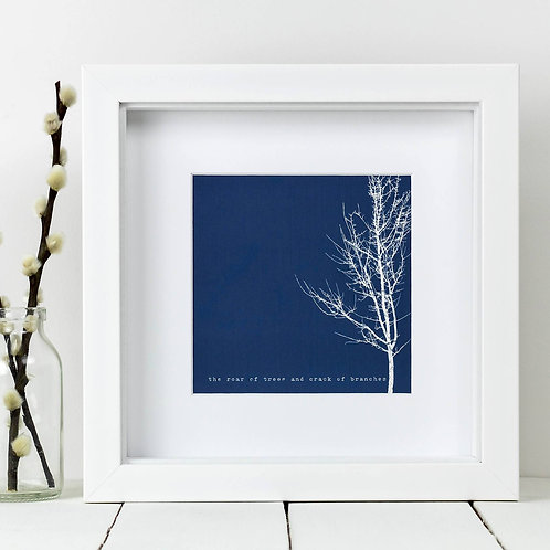 Blue Tree Square Print x 10 (Mega Discount Bundle £1.75 EACH)