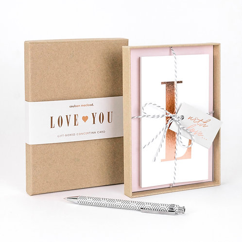 Love You | Luxury Boxed Concertina Card x 3