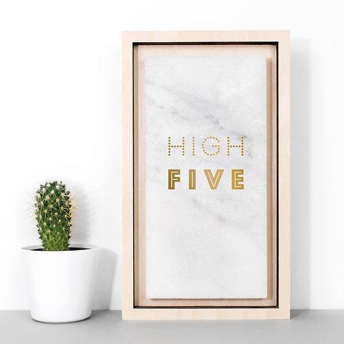 High Five Metallic Gold Marble Print x 3