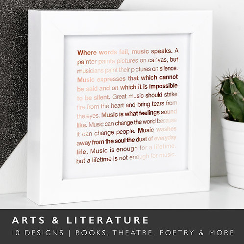 Wise Words ARTS/LITERATURE Copper Framed Prints