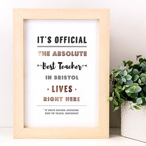 The Absolute Personalised Metallic Print x 3