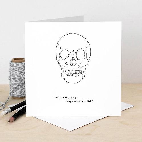 Skull Greeting Card for Men