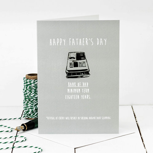 Bank of Dad Funny Father's Day Card