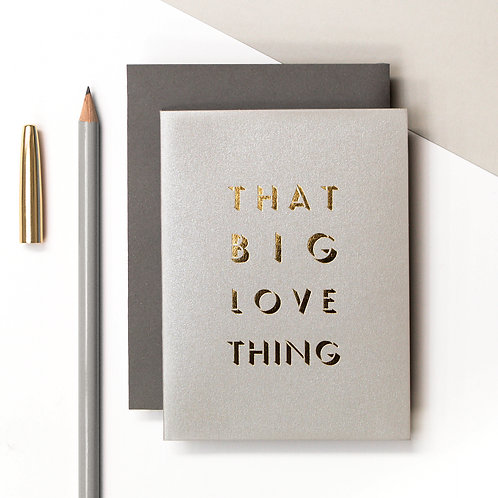 'Big Love Thing' Mini Metallic Card | Precious Metals