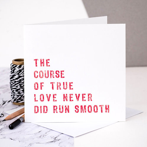 The Course Of True Love Card x 6