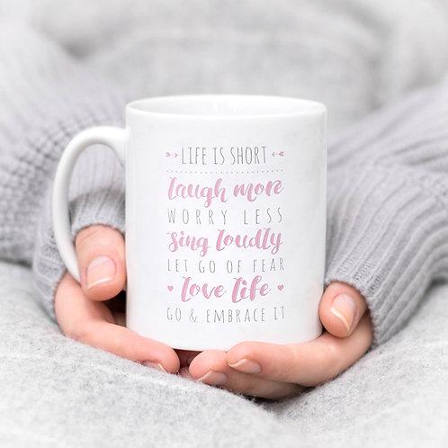 Precious Metals LIFE IS SHORT Mug x 3