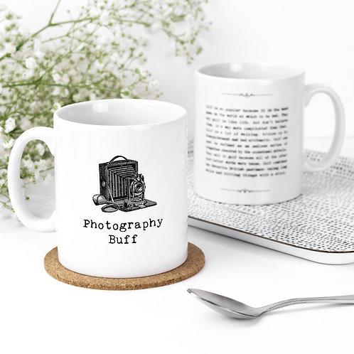 Photography Buff Vintage Words Quotes Mug x 3