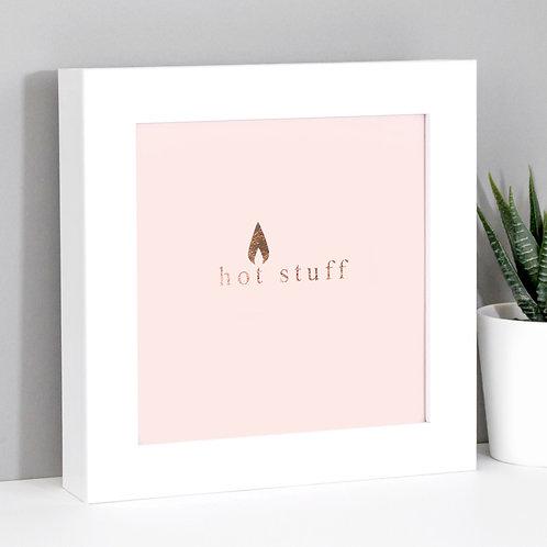 Hot Stuff Rose Gold/Pink Framed Print x 3