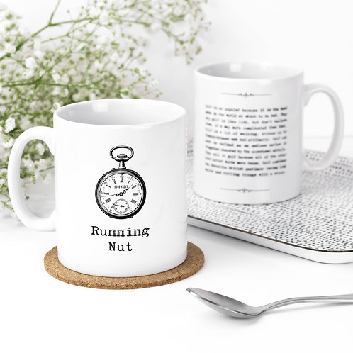Running Nut Vintage Words Quotes Mug x 3