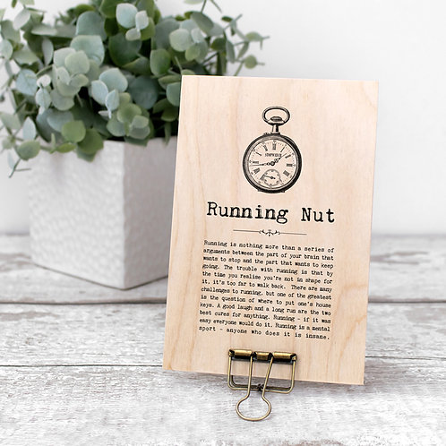 Running Quotes Wooden Sign with Hanger