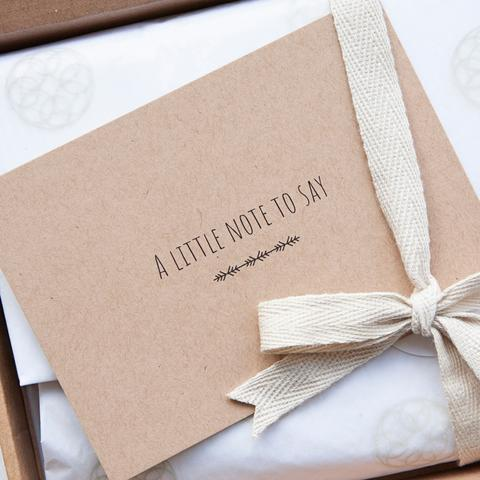 Alice and Peg Gift Note