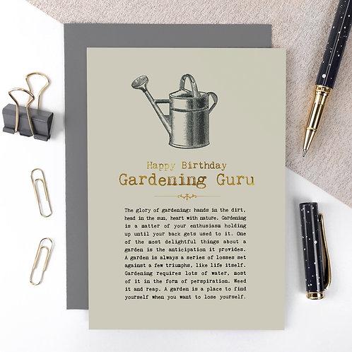 Gardening Guru Vintage Foil Birthday Card x 6