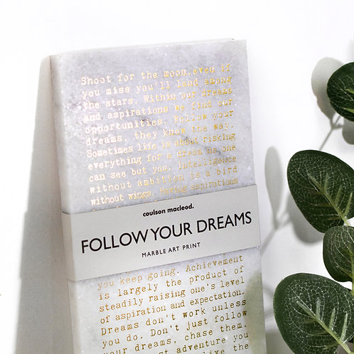 Dreams Inspiring Quotes Stone Plaque