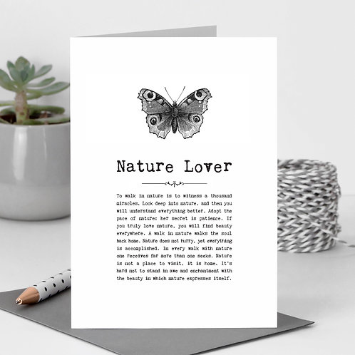 Nature Greeting Card with Quotes